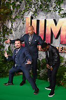 Jack Black, Dwayne Johnson &amp; Kevin Hart at the &quot;Jumanji: Welcome to the Jungle&quot; premiere at the Vue West End, Leicester Square, London, UK. <br /> 07 December  2017<br /> Picture: Steve Vas/Featureflash/SilverHub 0208 004 5359 sales@silverhubmedia.com