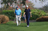 Anthony Wall (ENG) and Ashley Chesters (ENG) in action on the 13th during Round 2 of the Hero Indian Open at the DLF Golf and Country Club on Friday 9th March 2018.<br /> Picture:  Thos Caffrey / www.golffile.ie<br /> <br /> All photo usage must carry mandatory copyright credit (&copy; Golffile | Thos Caffrey)