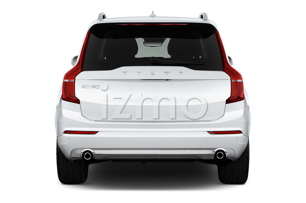 Straight rear view of 2017 Volvo XC90 Momentum 5 Door SUV Rear View  stock images