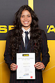 Girls Basketball winner Penina Davidson from Rangitoto College. ASB College Sport Young Sportsperson of the Year Awards held at Eden Park, Auckland, on November 24th 2011.