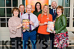 Launch of the fundraising Variety Concert in aid for Comfort for Chemo Kerry. Pictured front l-r Geraldine and Moris Guilfoyle, Cora Walsh and Mary Fitzgerald, back l-r Bernard and Collette O'Riordan and Jason Doyle in the Hights Hotel, Killarney last Saturday.