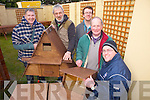 Clients from the Acquired Brain Injury Ireland branch in Castleisland have made bird boxes for Bird Watch Ireland as part of their activities in the centre. Pictured were: Pat Foley, Glen Overy,, Micheal O'Brien, John Cahill and Damien O'Carroll.