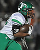 Farmingdale running back No. 30 Jordan McLune rushes for a gain during the Nassau County varsity football Conference I final against Oceanside at Hofstra University on Saturday, Nov. 21, 2015.<br /> <br /> James Escher