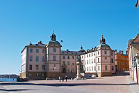 The Wrangelska Palatset on Riddarholmen, seat of Svea Hovratt, the appeals court, dating back to the 16th century. Stockholm. Sweden, Europe.