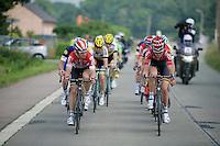 Sean De Bie (BEL/Lotto-Soudal) &amp; Tiesj Benoot (BEL/Lotto-Soudal) up front<br /> <br /> Heistse Pijl 2016