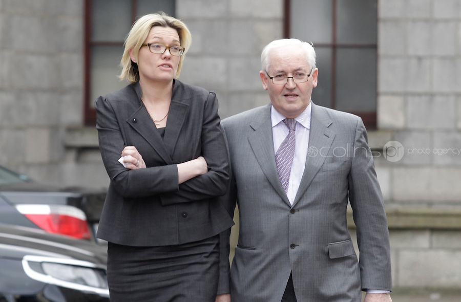 Philip Lynch of One51, leaving court yesterday(Wed) - with his daughter, Judith Whelan, during a High Court action.Pic: Collins Courts