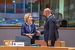 BRUSSELS - BELGIUM - 12 December 2019 -- EU-Summit with Heads of State - European Council meeting - Presidency of Finland. --  Ursula von Der Leyen, President of the European Commission and  Charles Michel, President of the European Council -- PHOTO: Juha ROININEN / EUP-IMAGES