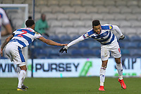 Jordan Cousins of QPR scores and celebrates during Queens Park Rangers vs Birmingham City, Sky Bet EFL Championship Football at Loftus Road Stadium on 9th February 2019