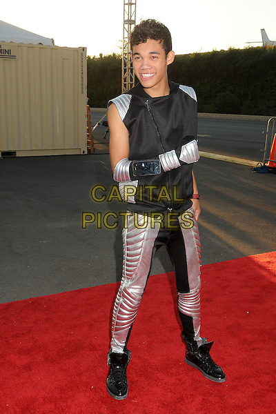 "Roshon Fegan.18th Annual ""Dream Halloween"" To Benefit The Children Affected By AIDS Foundation held at Barker Hangar, Santa Monica, California, USA, .29th October 2011 .hallowe'en costume dressed up full length  silver black .CAP/ADM/BP.©Byron Purvis/AdMedia/Capital Pictures."