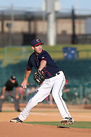 Matt Heidenreich #35 of the Lancaster JetHawks pitches against the Stockton Ports at The Hanger on June 24, 2014 in Lancaster, California. Stockton defeated Lancaster, 6-4. (Larry Goren/Four Seam Images)