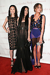 (Left to right) Model Shu Pei Qin, fashion designer Vera Wang, and model Chrissy Teigen arrives at the Gordon Parks Foundation 2014 Award Dinner and Auction on June 3, 2014 at Cipriani Wall Street, located on 55 Wall Street.