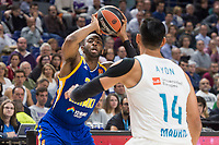 Real Madrid Gustavo Ayon and Khimki Moscow Thomas Robinson during Turkish Airlines Euroleague match between Real Madrid and Khimki Moscow at Wizink Center in Madrid, Spain. November 02, 2017. (ALTERPHOTOS/Borja B.Hojas) /NortePhoto.com