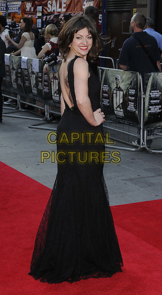Jo Hartley.World Premiere of 'Ill Manors' at the Empire, Leicester Square, London, England..May 30th, 2012.full length black dress side hand on hip looking over shoulder .CAP/ROS.©Steve Ross/Capital Pictures.
