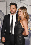 LOS ANGELES, CA - APRIL 04:  Actor Justin Theroux (L) and actress Jennifer Aniston attend the premiere of HBO's 'The Leftovers' Season 3 at Avalon Hollywood on April 4, 2017 in Los Angeles, California.