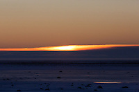 Sunrise at the Tundra Buggy Lodge