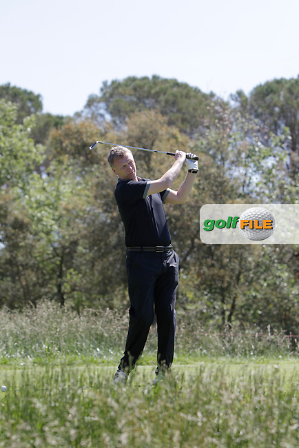 David Moyes (AM) in the Pro-Am during The Open De Espana at The PGA Catalunya Resort on Wednesday 14th May 2014.<br /> Picture:  Thos Caffrey / www.golffile.ie