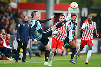 Garry Thompson of Wycombe Wanderers in action during the Sky Bet League 2 match between Stevenage and Wycombe Wanderers at the Lamex Stadium, Stevenage, England on 17 October 2015. Photo by PRiME Media Images.