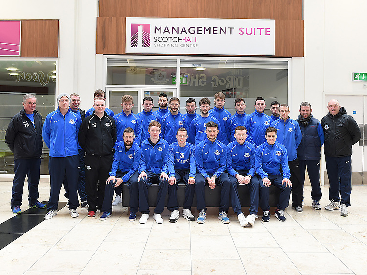 DRogheda United team pictured in Scotch Hall. Photo:Colin Bell/pressphotos.ie