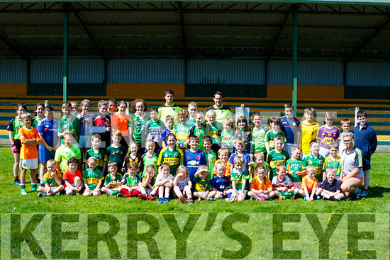Young and learning the skills at the Finuge GAA camp last Monday.