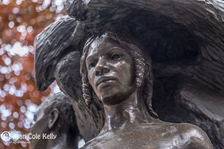 """Emancipation"" statue by Meta Warrick Fuller, 1913, in the South End neighborhood, Boston, Massachusetts, USA"