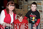 YOUNG AT HEART: Eily Hartnett, Abbeyfeale, out for Little Christmas dinner with her daughter Maureen and grandson Luke Carroll on Saturday at Kirbys Lanterns Hotel, Tarbert..