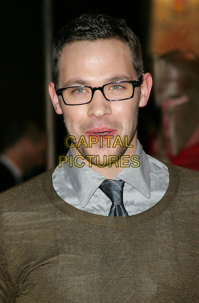 "WILL YOUNG.UK Premiere of ""300"" at Vue West End, Leicester Square, London, UK..headshot portrait mouth open glasses mouth open.CAP/ROS.©Steve Ross/Capital Pictures"