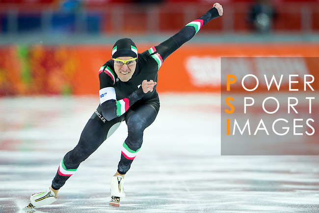 Mirko Nenzi of Italy compete during the Short Track Speed Skating as part of the 2014 Sochi Olympic Winter Games at Iceberg Skating Palace on February 10, 2014 in Sochi, Russia. Photo by Victor Fraile / Power Sport Images