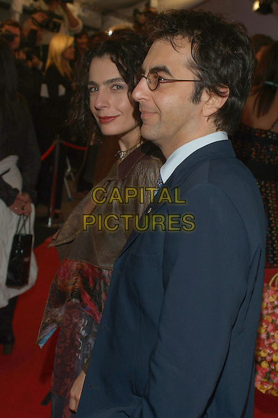 "ARSINEE KHANJIAN & ATOM EGOYAN.""Away From Her"" Premiere during the 2006 Toronto International Film Festival held at Roy Thomson Hall, Toronto, Ontario, Canada..September 11th, 2006.Ref: ADM/BPC.half length married husband wife blue brown profile.www.capitalpictures.com.sales@capitalpictures.com.©Brent Perniac/AdMedia/Capital Pictures"
