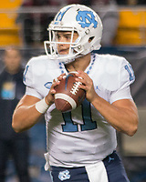 North Carolina quarterback Nathan Elliott. The North Carolina Tarheels defeated the Pitt Panthers football team 34-31 at Heinz Field, Pittsburgh, Pennsylvania on November 9, 2017.