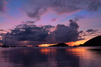 Sunset from Little Maho Bay<br /> Virgin Islands National Park<br /> St. John<br /> US Virgin Islands