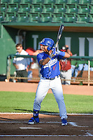 Willie Calhoun (17) of the Ogden Raptors at bat against the Idaho Falls Chukars in Pioneer League action at Lindquist Field on June 22, 2015 in Ogden, Utah. The Chukars defeated the Raptors 4-3 in 11 innings. (Stephen Smith/Four Seam Images)