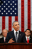President Barack Obama delivers his State of the Union address before a joint session of Congress on Capitol Hill in Washington, Tuesday, Jan. 12, 2016. <br /> Credit: Evan Vucci / Pool via CNP