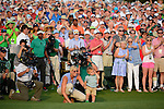 Bubba Watson wife and son during the fourth round of the 2014 Masters held in Augusta, GA at Augusta National Golf Club on Sunday, April 13, 2014.
