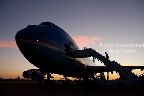 President Barack Obama boards Air Force One in Roswell, New Mexico, March 21, 2012. .Mandatory Credit: Pete Souza - White House via CNP