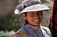 The local people of the Colca Valley wear traditional garments with great pride, as each woven piece is a costly work of art. The women wear meticulously woven clothing, characteristic of their culture. Hats are a part of the attire as they signify who they are and what ethnic group they are a part of.