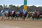 January 18, 2016: The start of the Smarty Jones Stakes at Oaklawn Park in Hot Springs, AR. Justin Manning/ESW/CSM