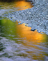 Reflection in Collawash River in Clackamas County, Oregon