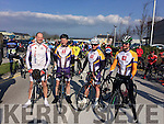 Tom Brendan O'Connor, Chris Murray, Michael O'Sullivan and Terry McDonnell the Lacey cup cycle race in Tralee on Sunday.
