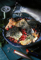 USA/Etats-Unis/Alaska: Saumon Coho aux baies rouges