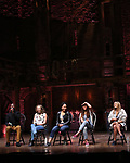 Justin Dine Bryant, Hope Endrenyi, Erin Clemons, Sasha Hollinger and Joanna Jones  during the an eduHAM Q & A panel with the cast of Broadway's 'Hamilton' at The Richard Rodgers Theatre on May 23, 2018 in New York City.