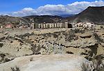 Fort Bravo Hollywood movie set tourist attraction Inland Almeria, Spain