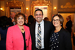 Waterbury, CT- 01 June 2017-060117CM010-  <br /> From left, Kathy McPadden from Ion Bank with Jesse and Dana Silva of Southbury are photographed during the Palace Theater's Stages Wine Dinner event in Waterbury on Thursday.   Christopher Massa Republican-American