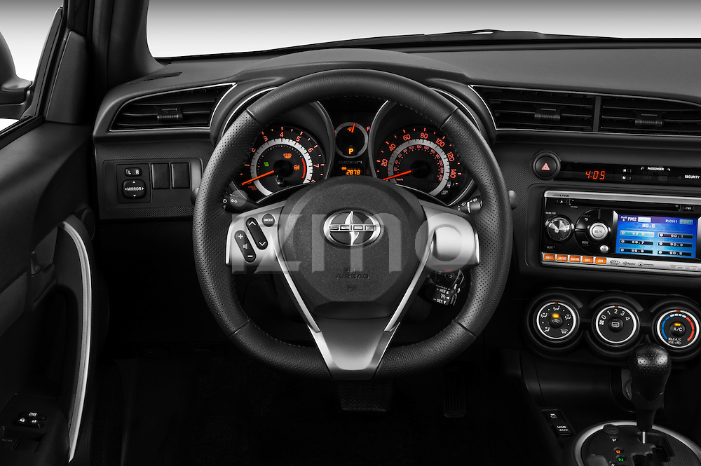 2011 Scion TC  Steering wheel view Stock Photo