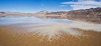 Above average winter rain creates small lake on the Racetrack playa, Death Valley national park, California