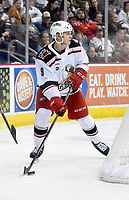 HERSHEY, PA - JANUARY 05: Grand Rapids Griffins defenseman Vili Saarijarvi (9) skates behind the net during the Grand Rapids Griffins vs. Hershey Bears AHL game at the Giant Center in Hershey, PA. (Photo by Randy Litzinger/Icon Sportswire)