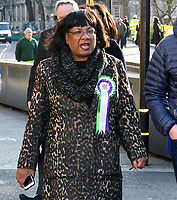 Diane Abbott<br /> Female Labour MPs and members of the Labour Party at a photocall launching a year long campaign to celebrate the centenary of women's suffrage, at House of Commons, London on February 06, 2018.<br /> CAP/JOR<br /> &copy;JOR/Capital Pictures