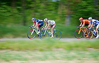 Pirmin Lang (SHE/IAM) &amp; Christophe Riblon (FRA/AG2R-La Mondiale) speeding along in the breakaway<br /> <br /> Amstel Gold Race 2014