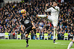 Real Madrid Sergio Ramos and Deportivo de la Coruña Emre Colak during La Liga match between Real Madrid and Deportivo de la Coruña at Santiago Bernabeu Stadium in Madrid, Spain. December 10, 2016. (ALTERPHOTOS/BorjaB.Hojas)