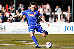 Gregor Robertson of Grimsby Town during the Vanamara Conference League match between Woking and Grimsby Town at the Kingfield Stadium, Woking, Surrey<br /> Picture by David Horn/eXtreme aperture photography +44 7545 970036<br /> 07/03/2015