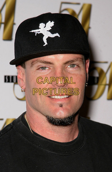 "VANILLA ICE (Robert Matthew Van Winkle).Legendary Studio 54 welcomes Vanilla Ice for a special performance during ""Nightmare on 54th Street"" inside the MGM Grand Resort Hotel and Casino, Las Vegas, Nevada, USA, .30th October 2009..portrait headshot black cap hat  soul patch goatee facial hair .CAP/ADM/MJT.©MJT/Admedia/Capital Pictures"